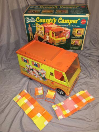 Vintage 1971 Mattel Barbie Country Camper W/ Box