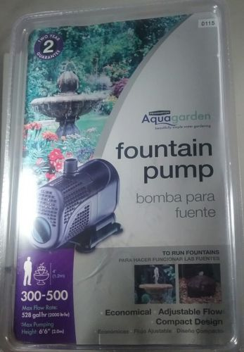NEW Pennington AquaGarden 300-500 Fountain Garden Pond Pump 528 GPH