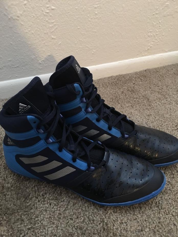 Adidas Flying Impact Wrestling Shoes Navy Blue 9.5