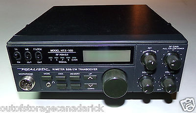 Realistic HTX-100 10 Meter SSB/CW Radio Transceiver - Works Great