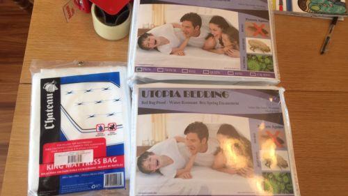 Utopia Bedding Box Spring Encasement Lot Of 2 W/king Size Mattress Bag