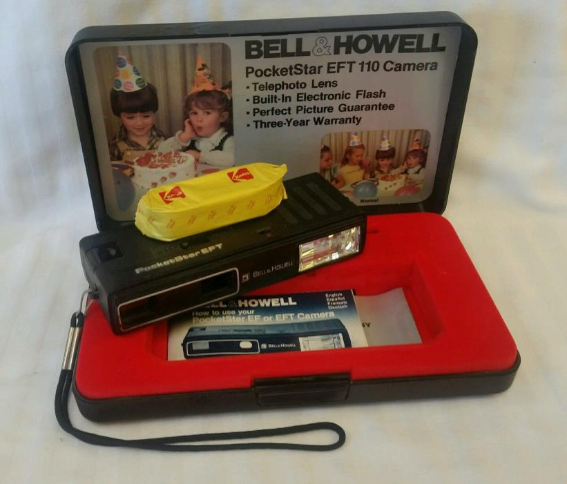 Bell & Howell Pocket Star EFT 110 Film Camera Pocketstar w/ Case, Manual, Film