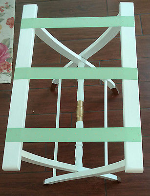 Luggage suitcase rack Shabby Chic coastal french cottage guest room