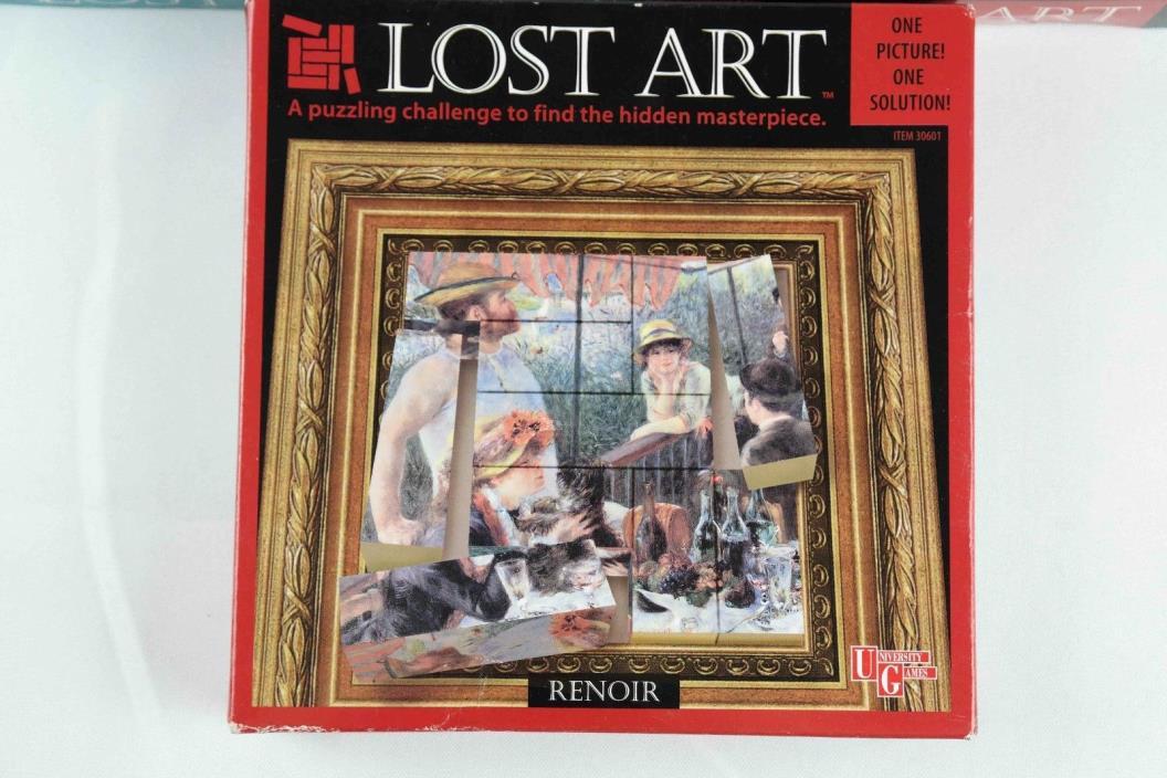 University Games Renior Lost Art block puzzle 10 pc  Dan Gilbert original