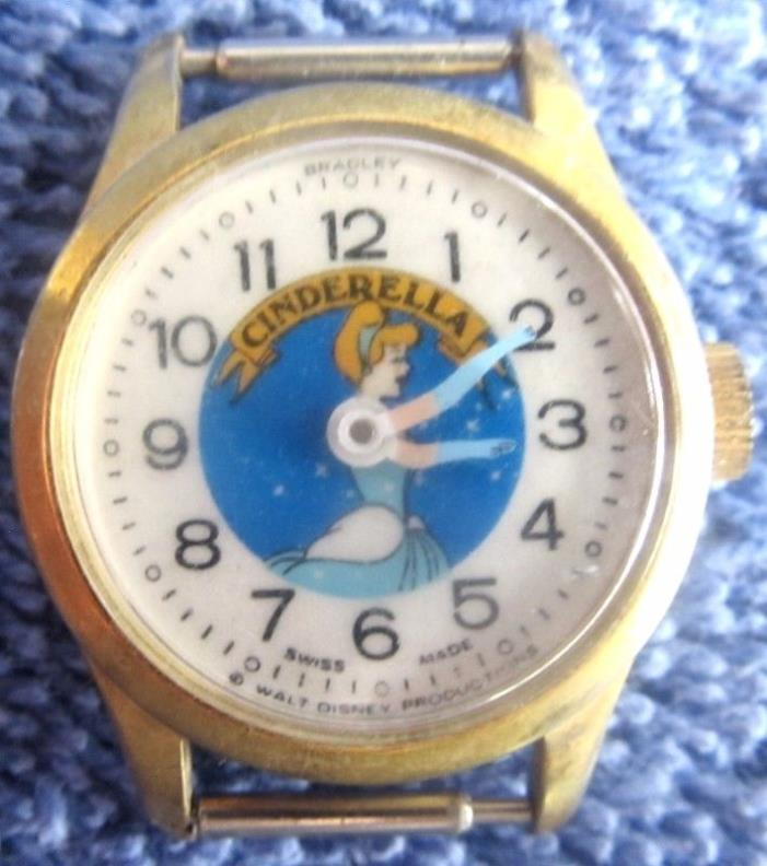 Vintage Walt Disney CINDERELLA Movie Character Wrist Watch BRADLEY