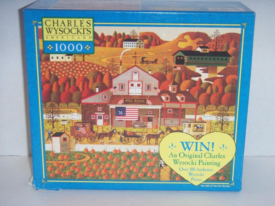 * CHARLES WYSOCKI'S  Americana * 1000 Piece Puzzle ( Old Glory Farms ) Independe