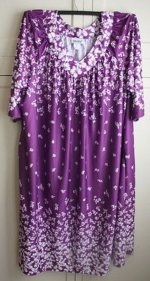Vintage Anthony Richards Women's Plus Size 5X Purple Floral Nightgown