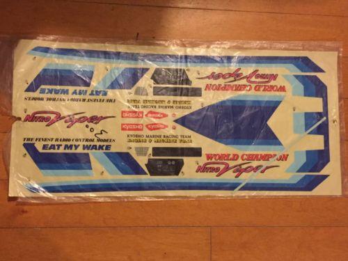 Kyosho Nitro Viper Boat  RARE VINTAGE RC Decal Sheet