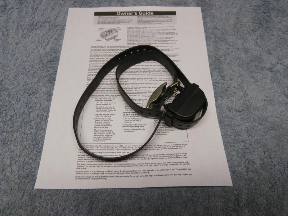 Tri-Tronics XS BARK LIMITER SHOCK Collar DOG TRAINING COMPLETE WORKING SYSTEM