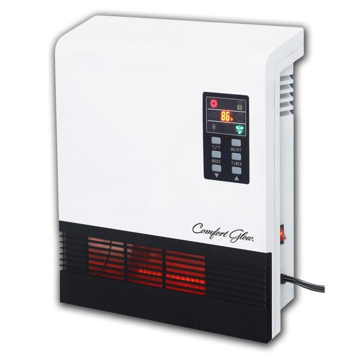 Radiant Heater Wall Mount Panel Electric Quartz Plug In Infrared Thermostat