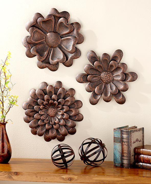 flower wall sculpture