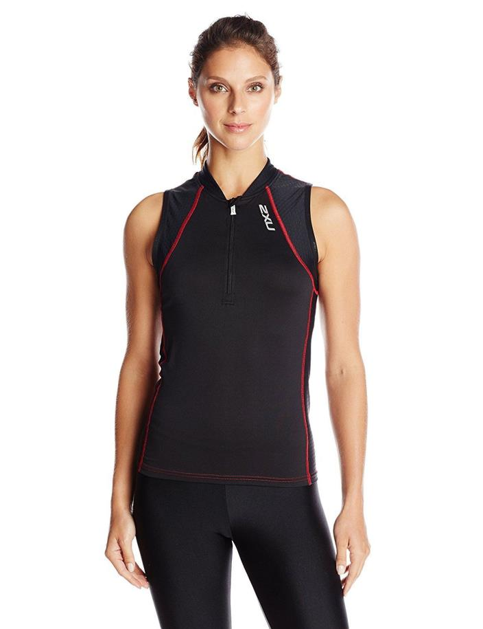 NEW 2XU Womens Multi-Sport Singlet Size XL X-Large Triathlon Cycling Running NWT