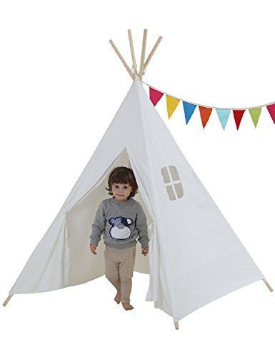 Dream House Sturdy Children Playhouse Canopy Tent, OPEN BOX