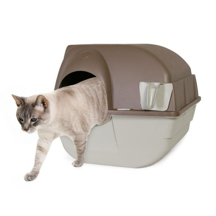 Litter Box Automatic Self Cleaning Cat Pan Pet Kitty Hooded Covered Enclosure