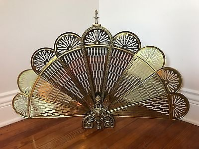 Brass Peacock Fireplace Screen - For Sale Classifieds