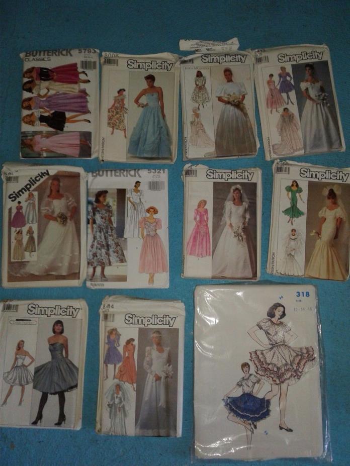 11 Vintage Wedding Prom Bridesmaids Ballroom Western Swingdance Dress Patterns