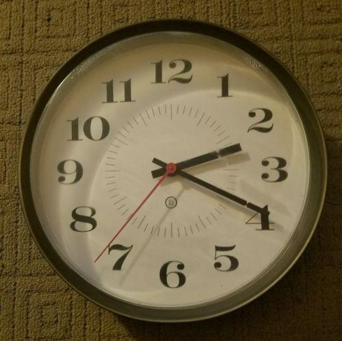 vintage school wall clock
