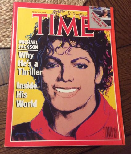 MICHAEL JACKSON 3/19/1984 TIME MAGAZINE NO LABEL NL NEAR MINT! NEWSSTAND WARHOL