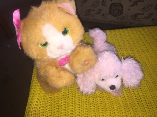 Fur Real Friends Pink Poodle & Daisy Cat - Tested & Working