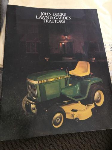 John Deere Lawn And Garden Tractors Brochure