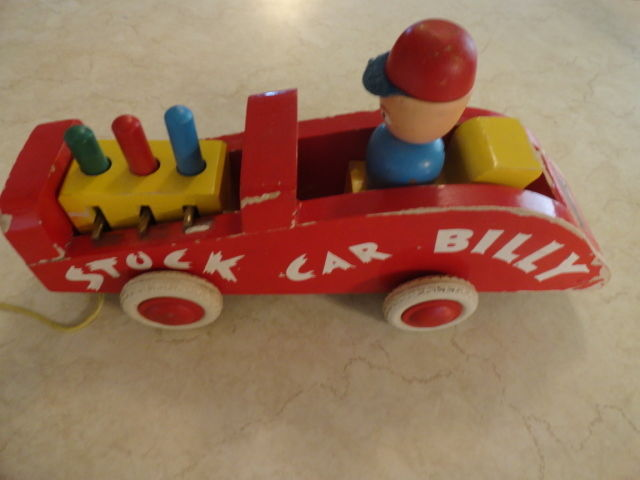 Vintage BRIO Wooden Toy Racing Car Stock Car Billy Sweden