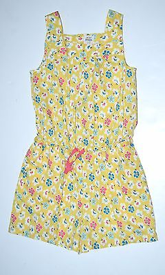 Mini Boden Girls 9 10 Spring Yellow Floral Romper Jumpsuit CJ1
