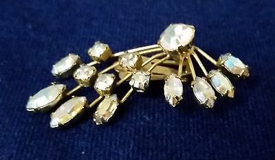 Vintage WEISS signed Scarf Hat Dress CLIP Earring