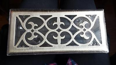 STEEL SATIN CHROME PLATED WALL FLOOR AIR VENT COVER GRATE