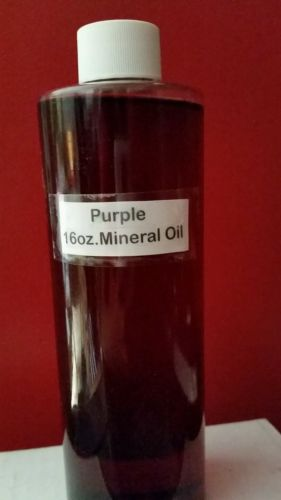 PURPLE COLOR MINERAL OIL FOR RAIN LAMPS OIL LAMPS 16OZ.-  OTHER COLORS AVAILBLE