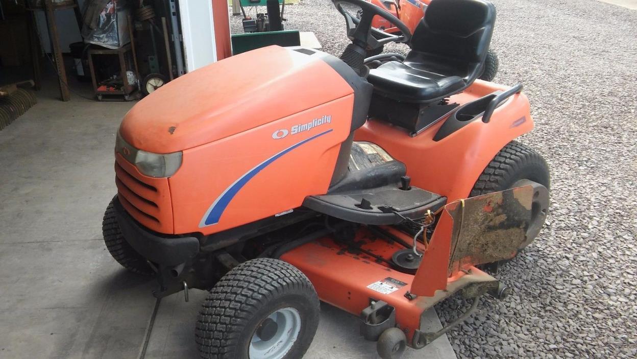 Simplicity Legacy 25hp 60 deck garden tractor HEAVY DUTY NICE!!