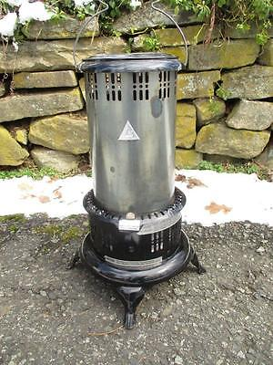 Vintage Working Black 525M Perfection Oil Kero Parlor Cabin Camping Heater VGC!!