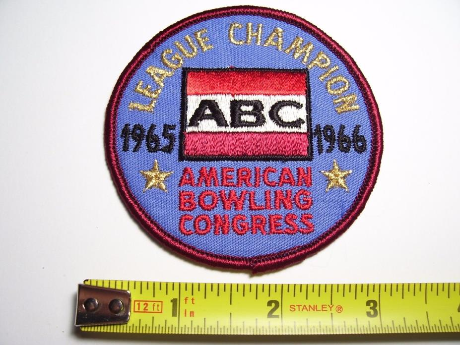 Vintage ABC League Champions 1965-1966 Patch Free Shipping!