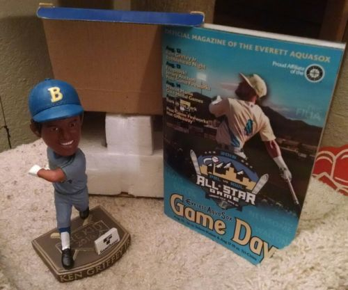 Ken Griffey Jr 2016 Bobblehead Everett Aquasox SGA Seattle Mariners Stub/Program