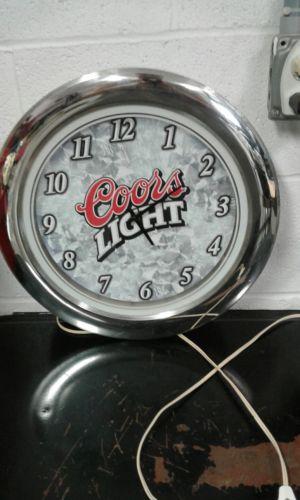Coors Light lighted clock Man cave bar