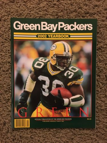 Green Bay Packers Yearbook 2002 NFL RB AHMAN GREEN PERFECT SHAPE!