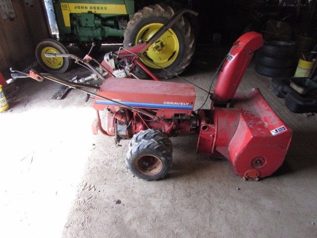 Gravely 5260  walkbehind tractor w snow blower attachment