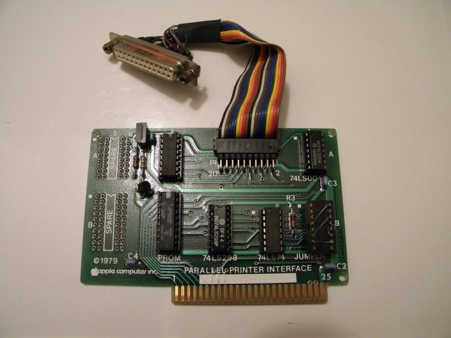 Early Apple II plus IIe Parallel Interface Card *Tested & Works* Apple Computer