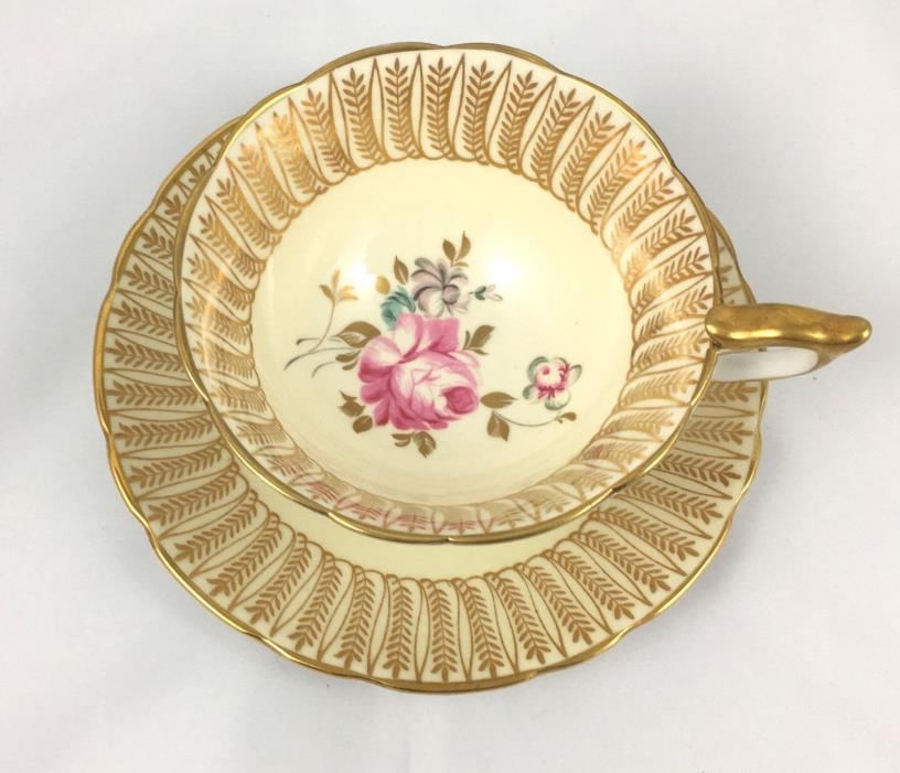 Royal Stafford Cup And Saucer W Pink Roses