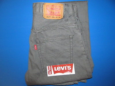 Levi's # 511 Jeans Boy's Size 18 Gray Denim Slim Fit Skinny Leg Red Tab FAB