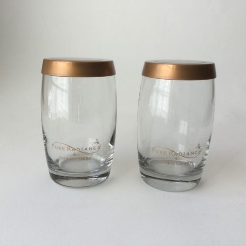 2 Yankee Candle Empty Jars with Metal Lids