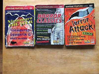 Horror Movie Lot 3 DVDs Carnival of Souls Tormented Screaming Skull & More