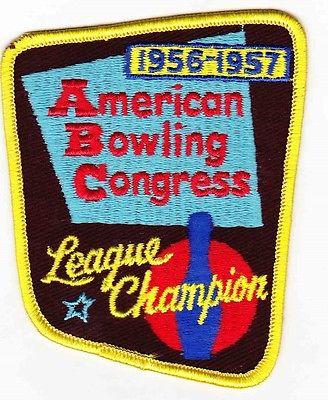 ABC League Champion Bowling Patch 1956 -- 1957