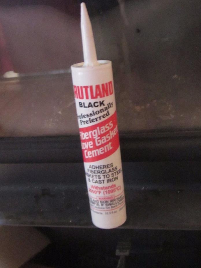 Rutland High Temperature Stove & Gasket Cement Adhesive 10.3 Oz Black RT78E NEW