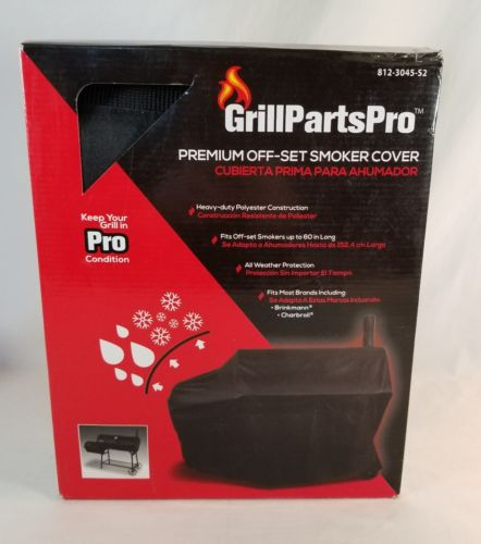 Grill Parts Pro Premium Heavy Duty Off Set Smoker Cover Fits Charbroil Brinkmann
