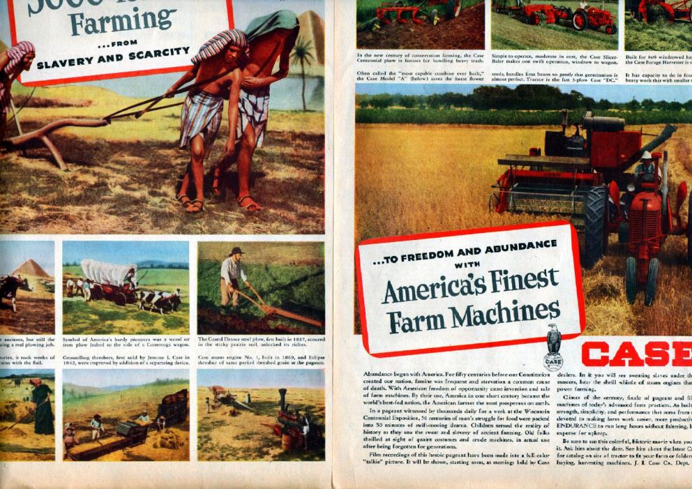 1949 Case Farm Machinery ad Tractors  Plows, Balers, 2 Page ad 21 x 13 3/4-t1100