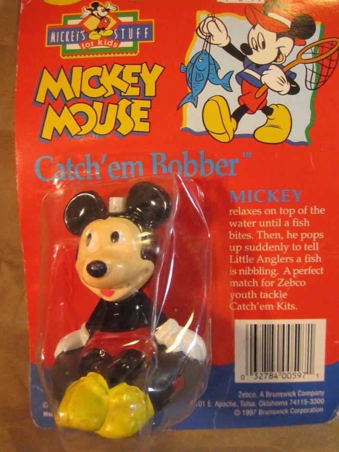 Disney Mickeys Stuff for Kids Mickey Mouse Catch'em Bobber ca 1997 unopened