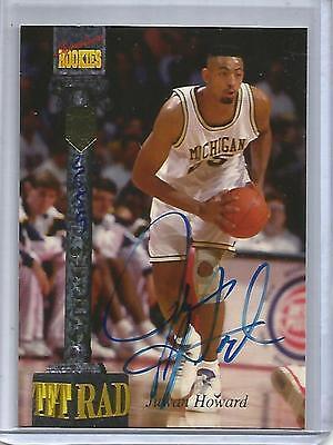 Juwan Howard 1994 Signature Rookies Tetrad Autograph #2559/7750