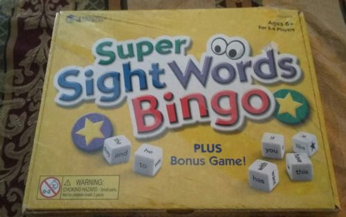 new super sight words bingo game
