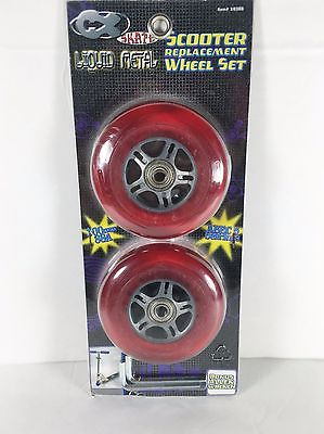 CX Liquid Metal  Scooter Replacement Wheel Set Red 100 mm Wrench