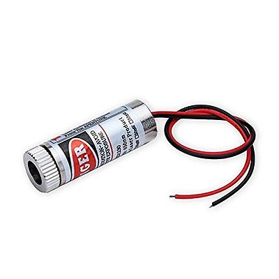Focusable 650nm 5mW 3-5V Red Laser Cross Module Diode w driver Plastic Lens (2